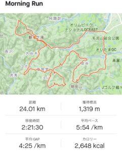 奥武蔵毛呂山トレイルラン